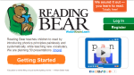 Reading Bear: Learn to read for free