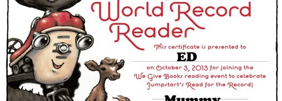 "We Read ""Otis"" for the World Record"